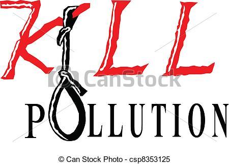 Clipart Vector of kill pollution.