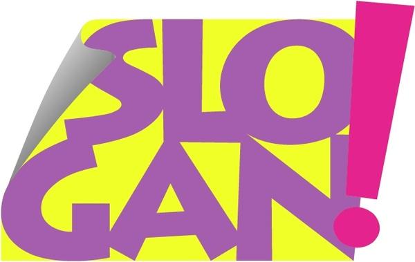 Slogan Clipart.