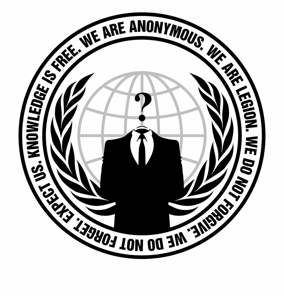Anonymous Logo With Slogan Transparent By Anondesign.
