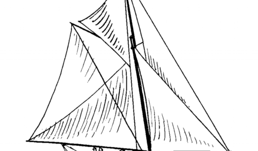 Free sloop Ship Clip Art.