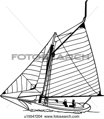 Clipart of , boat, friendship, sailboat, sailing, sloop, sport.