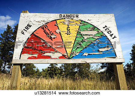 Stock Photo of Fire Danger Sign u13281514.