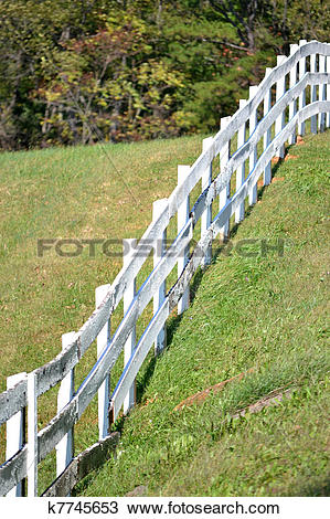 Stock Photo of Sloped Fence k7745653.
