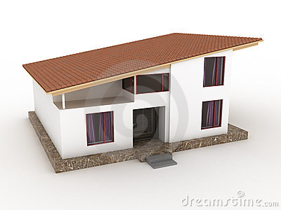 Clipart House Slanted Roof.
