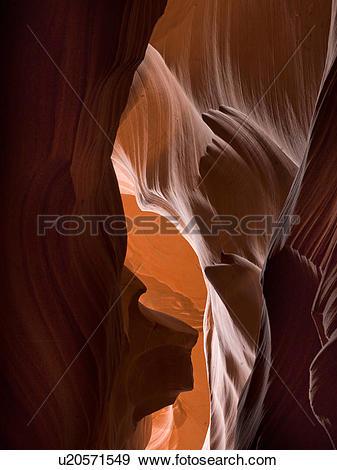 Stock Photograph of Slot canyon, Tse Bighanilini, Upper Antelope.