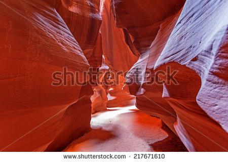 Waves Sand Zebra Slot Canyon Utah Stock Photo 293292416.