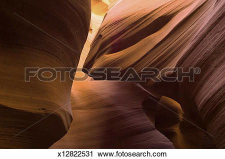 Stock Photography of Slot canyon designs x12822531.