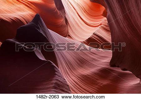 Stock Photo of Slot canyon, Lower Antelope Canyon, Antelope Canyon.