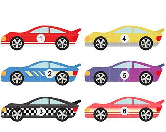Animated Race Cars.