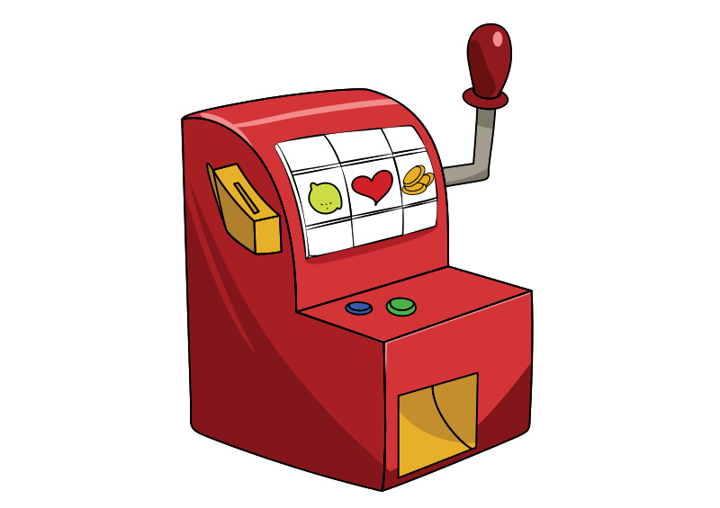 Free Clipart: Little red slot machine.