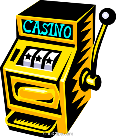 slot machine Royalty Free Vector Clip Art illustration.