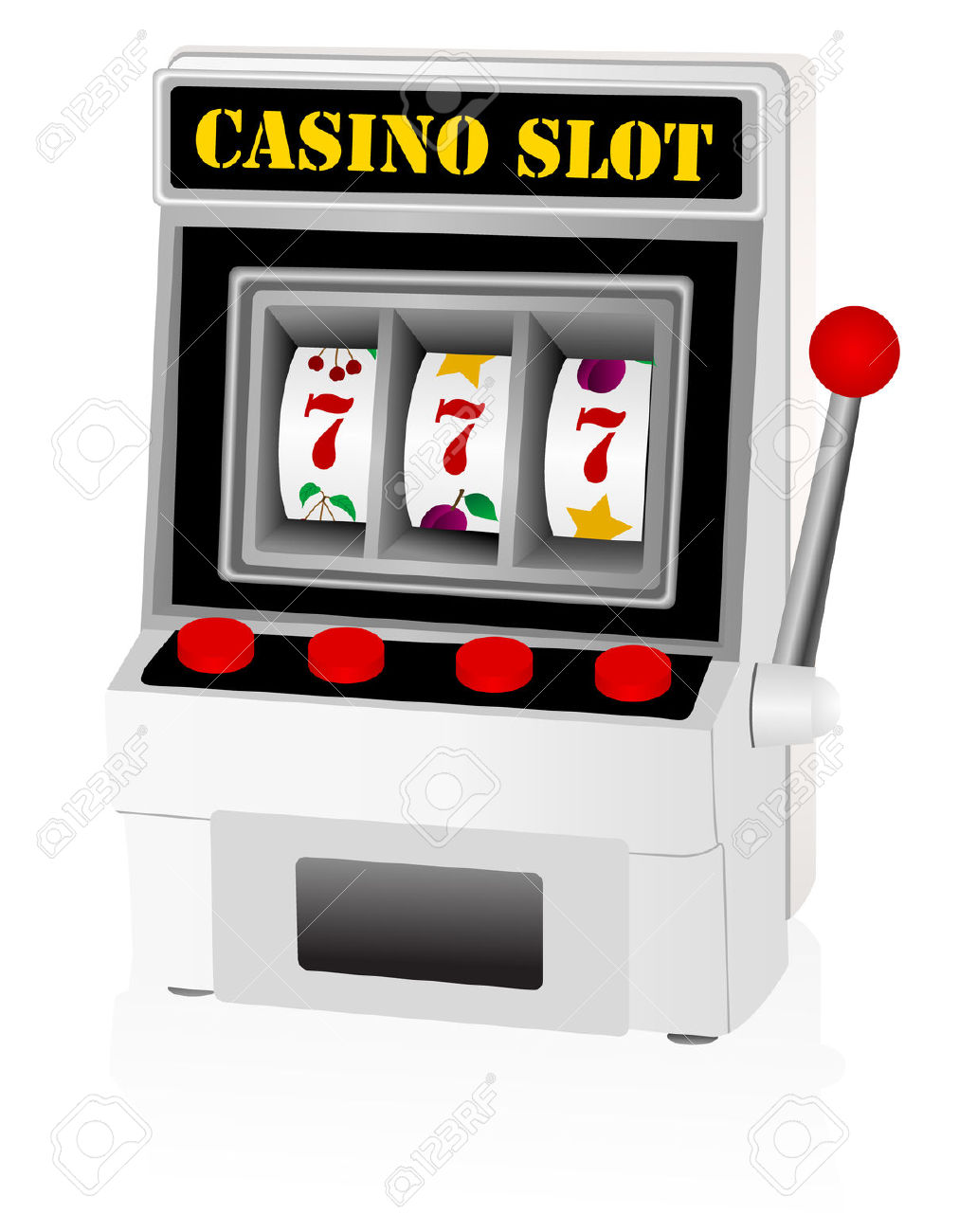Illustration Of A Detailed Slot Machine Royalty Free Cliparts.