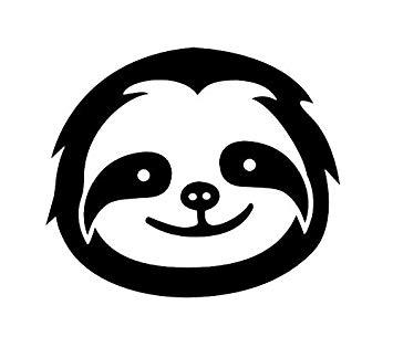 CCI Sloth Face Cute Funny Decal Vinyl Sticker.