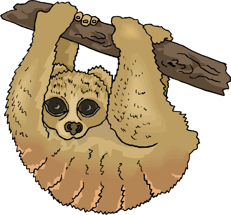 Free Sloth Clipart.