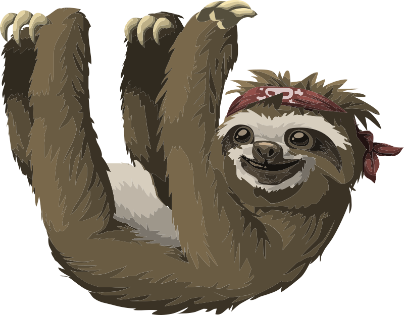 Free to Use & Public Domain Sloth Clip Art.