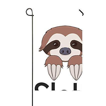 Amazon.com : WilBstrn Classic Sloth Logo Garden Flag Double.