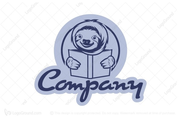 Exclusive Logo 102474, Reading Sloth Logo.