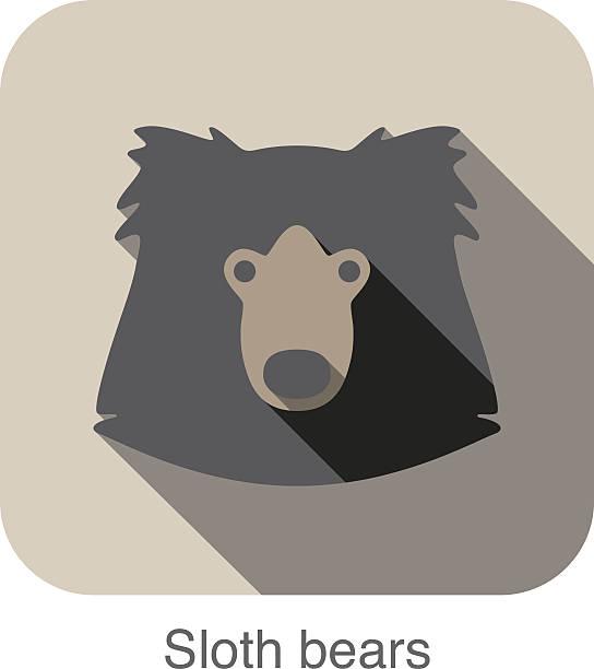 Sloth Bear Clip Art, Vector Images & Illustrations.