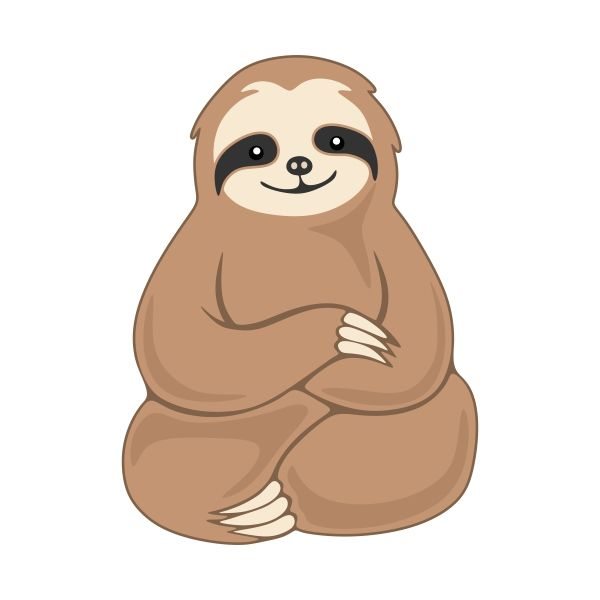 525 Sloth free clipart.