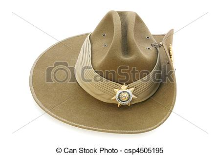 Stock Images of Australian Army Slouch Hat.