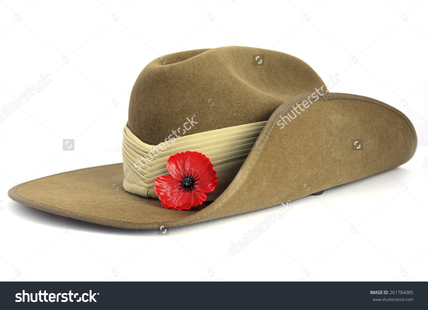 Anzac Day Army Slouch Hat Red Stock Photo 261784085.