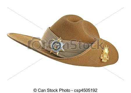Stock Photo of Australian Army Slouch Hat.