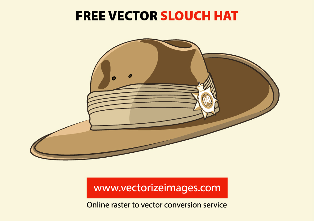 Free Vector Slouch Hat.