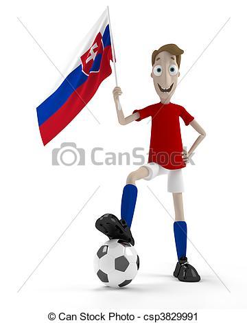 Clipart of Slovak soccer player.