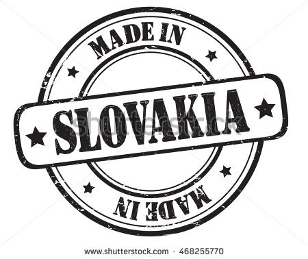 Made In Slovakia Stamp Stock Photos, Royalty.