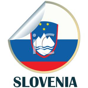 Sticker of the Flag of Slovenia.