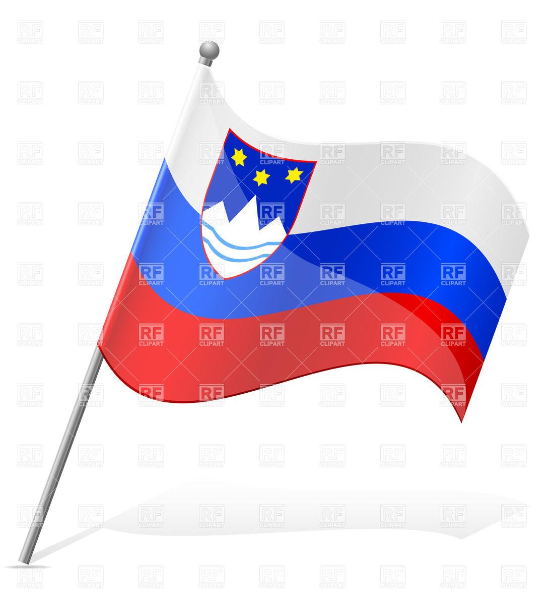 Wavy flag of Slovenia simple icon Vector Image #38439.