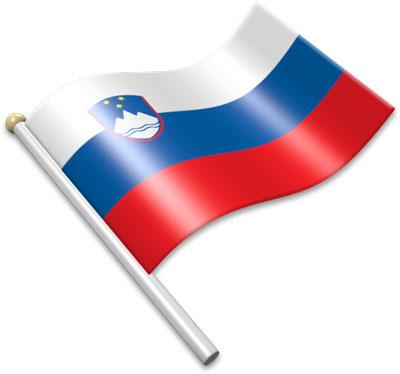 Slovenia flag clipart.