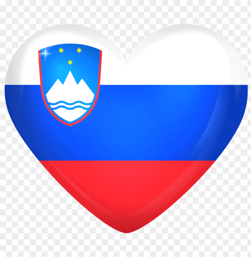 Download slovenia large heart flag clipart png photo.