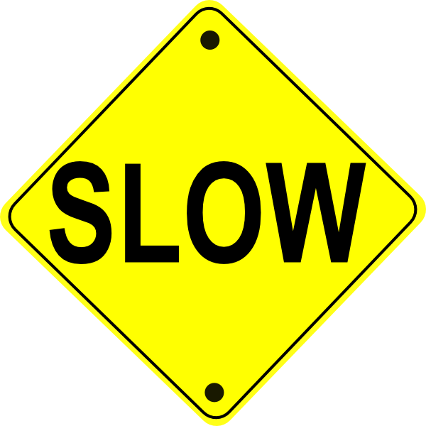 Slow Sign Cliparts.