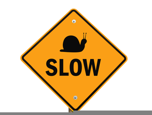 Slow Down Sign Clipart.
