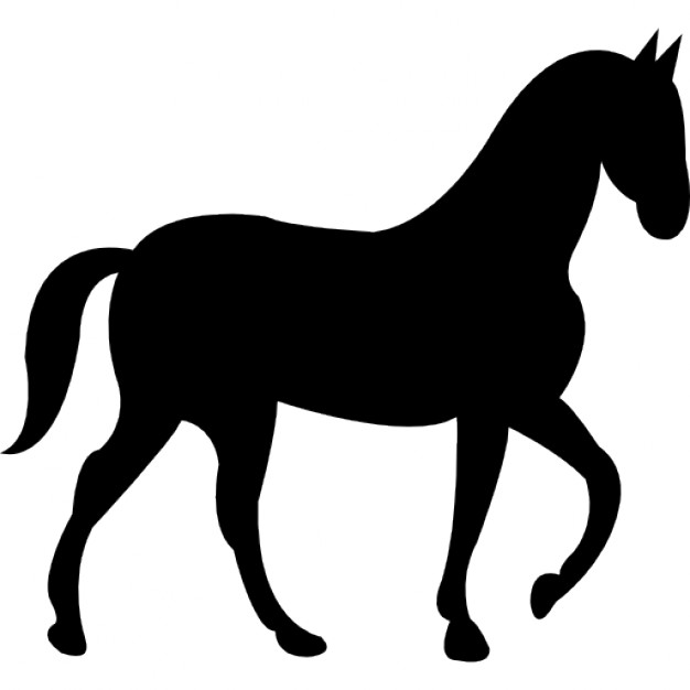 Horse with slow walking pose Icons.