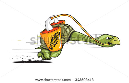Turtle fast speed clipart.