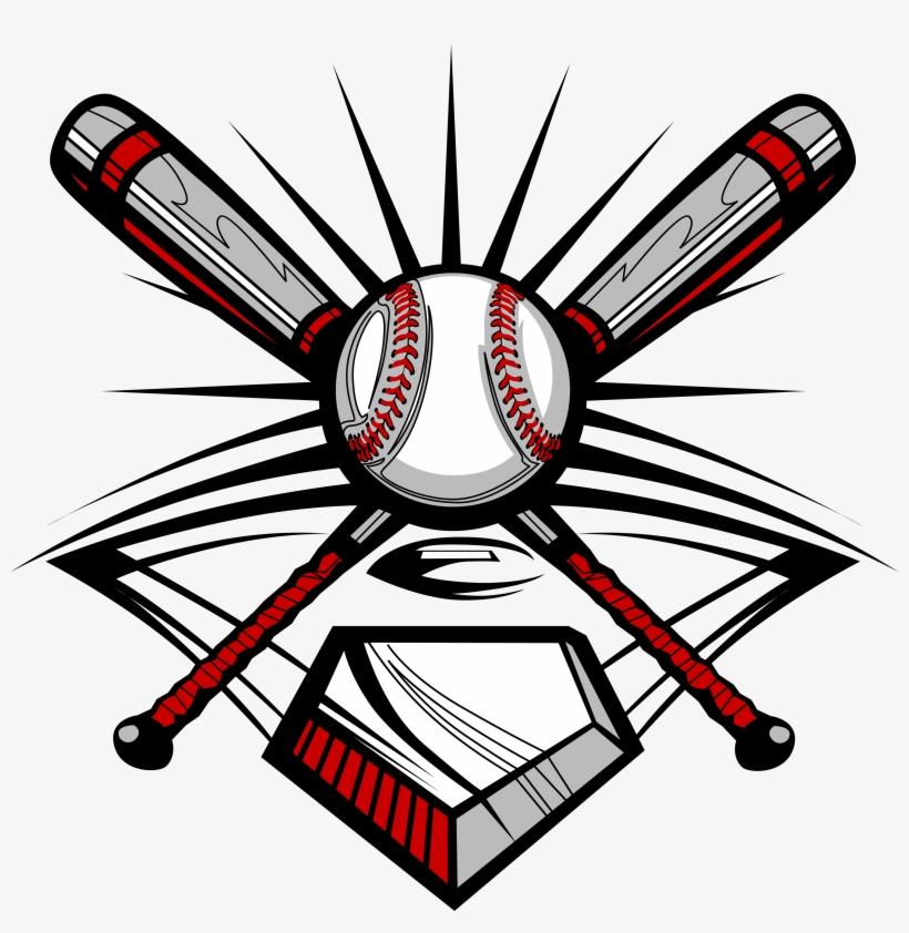 Baseball Bat, Ball, And Home Plate.