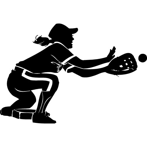 Slow pitch softball clipart.