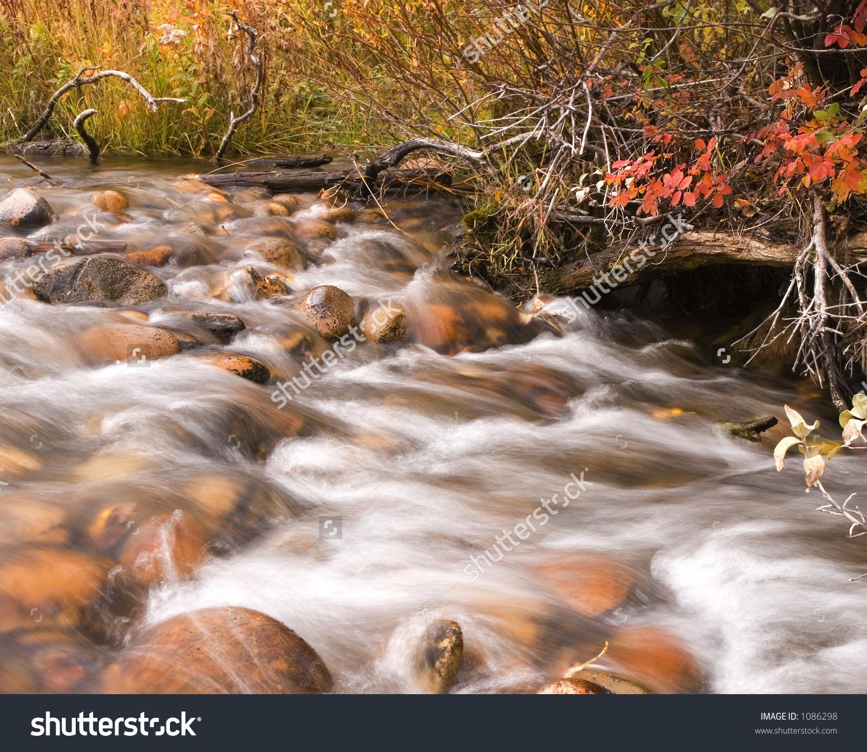 Flowing Creek Waterslow Shutter Speed Stock Photo 1086298.