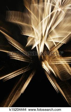 Stock Photo of Fireworks with slow shutter speed k15204444.