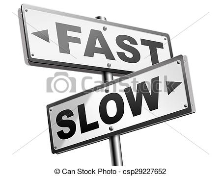 Stock Illustrations of fast or slow pace, lane or living faster or.