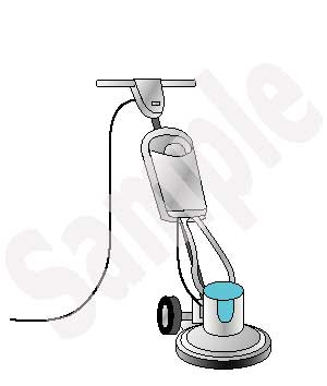 Speed Floor Machine Clip Art.