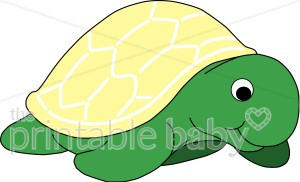 Slow Moving Turtle Clipart.