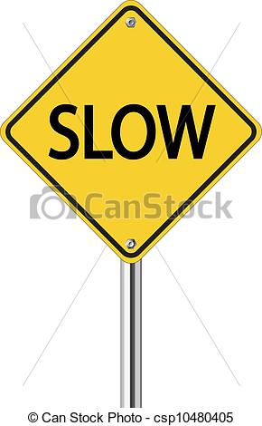Slowing clipart.