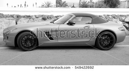 Mercedes Sls Stock Photos, Royalty.