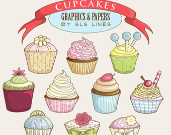Watercolor Clipart Digital Stamps & Coloring Books by SLSLines.