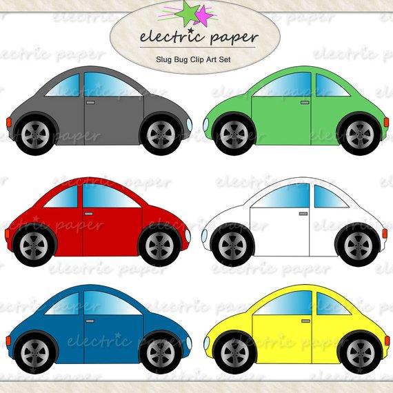 Cars VW Bug Clip Art.