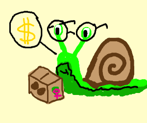 with glasses sells girl scout cookies.