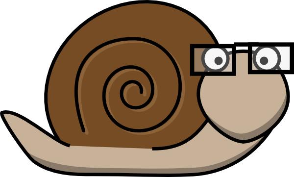 Snail With Glasses Clip Art at Clker.com.